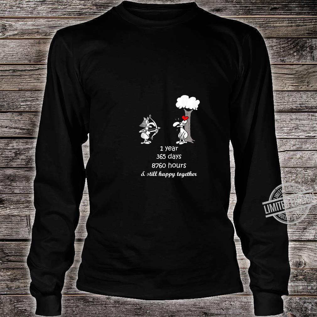 1st Marriage Anniversary For Him Her 1 Year Together Shirt long sleeved