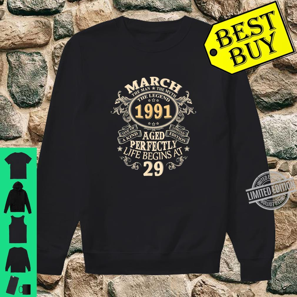 29 Years Awesome 29th Birthday Born March 1991 Best Shirt sweater