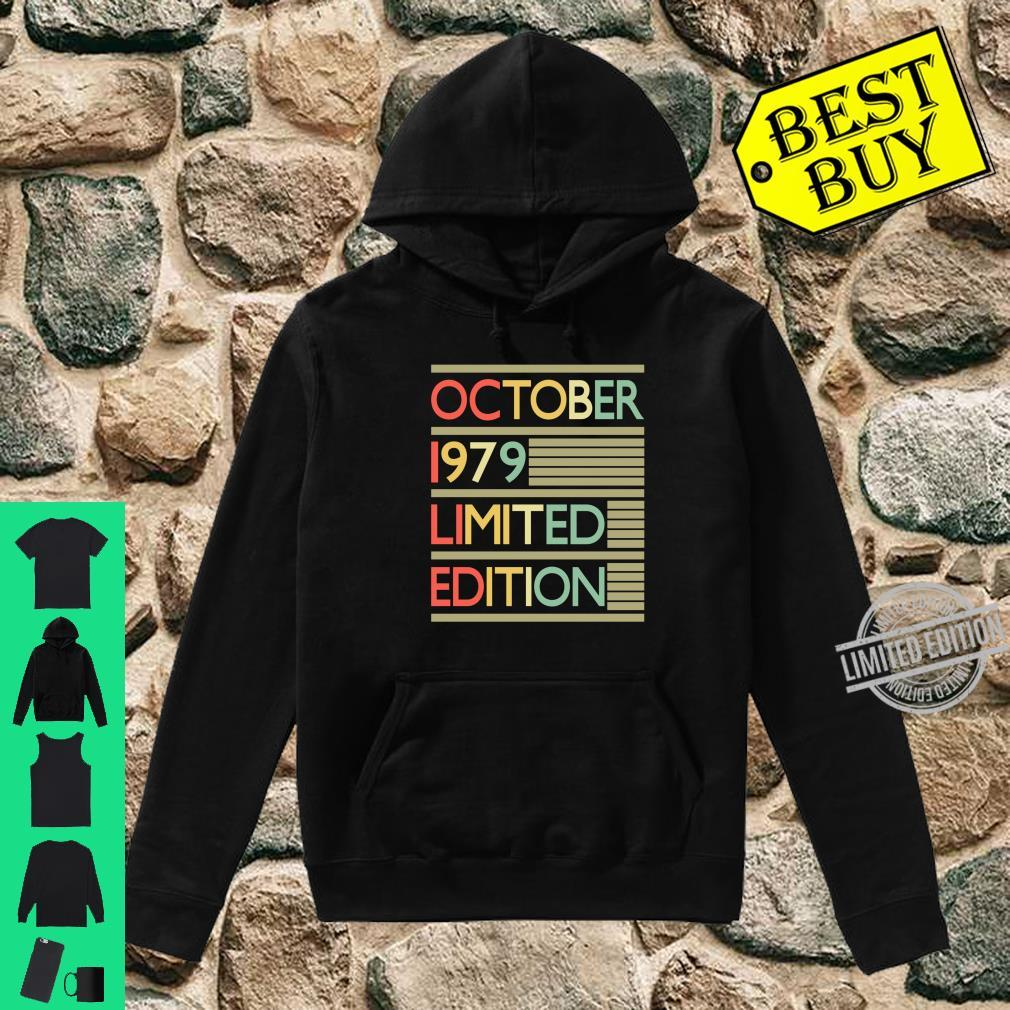 40 Years Old Shirt 40th Birthday October 1979 Shirt hoodie