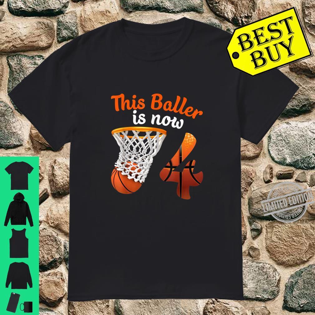 4th Birthday Basketball 4 Years Old Shirt