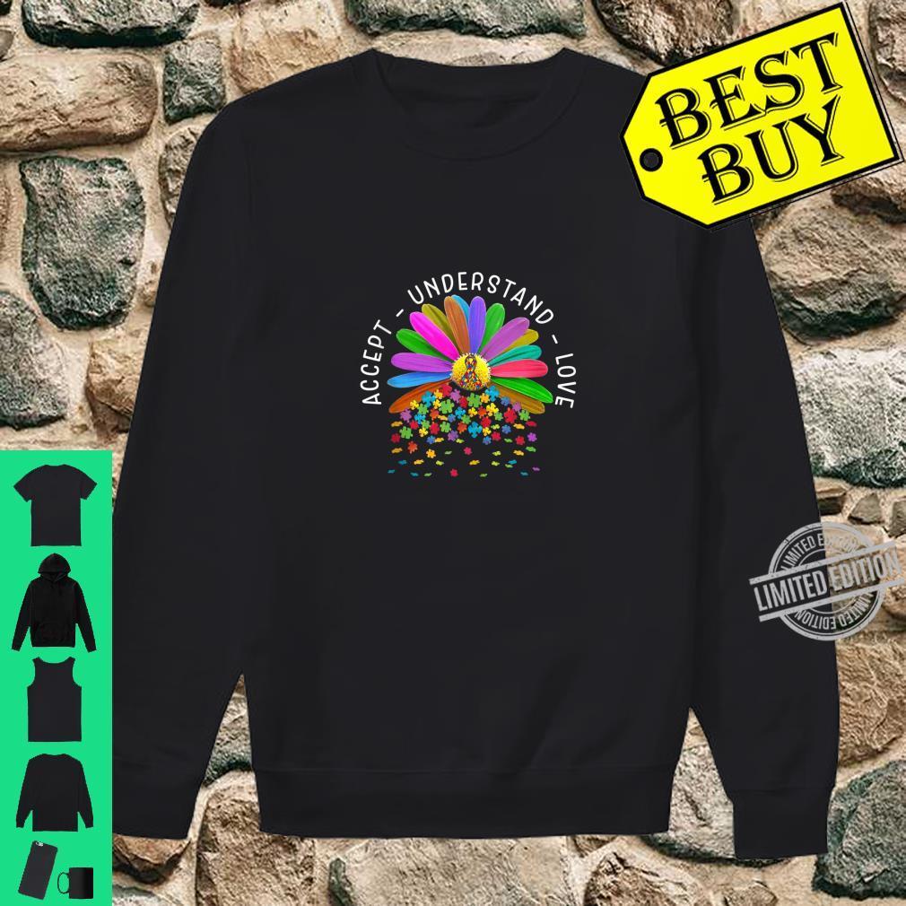 Accept Understand Love Autism Awareness Daisy Flower for Mom Shirt sweater