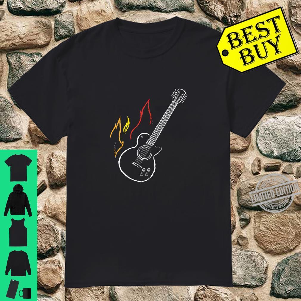 Acoustic Guitar Guitarist Rock Rocker Musician Vintage Shirt