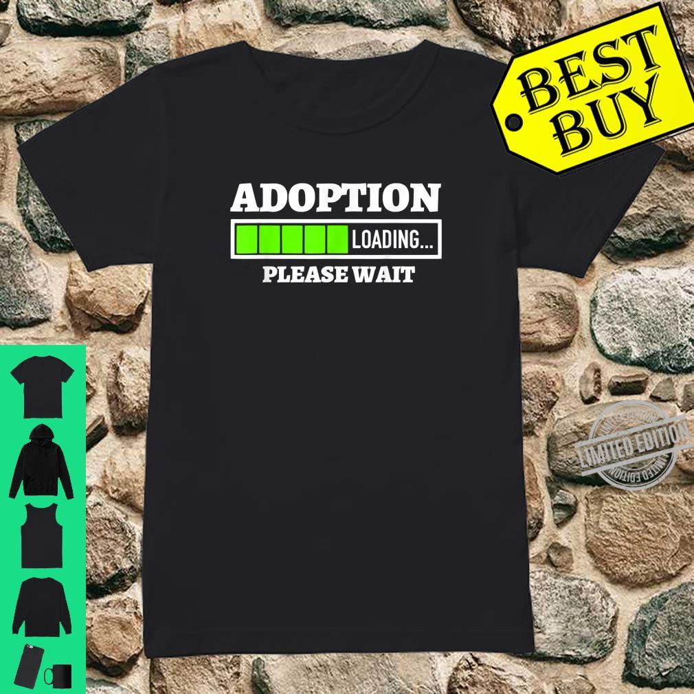 Adoption Loading Please Wait Progress Bar Fun Parenting Shirt ladies tee
