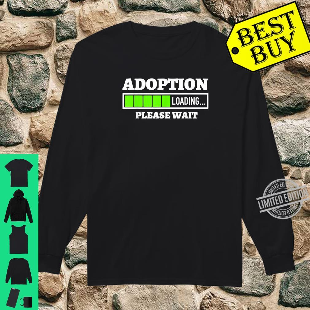 Adoption Loading Please Wait Progress Bar Fun Parenting Shirt long sleeved