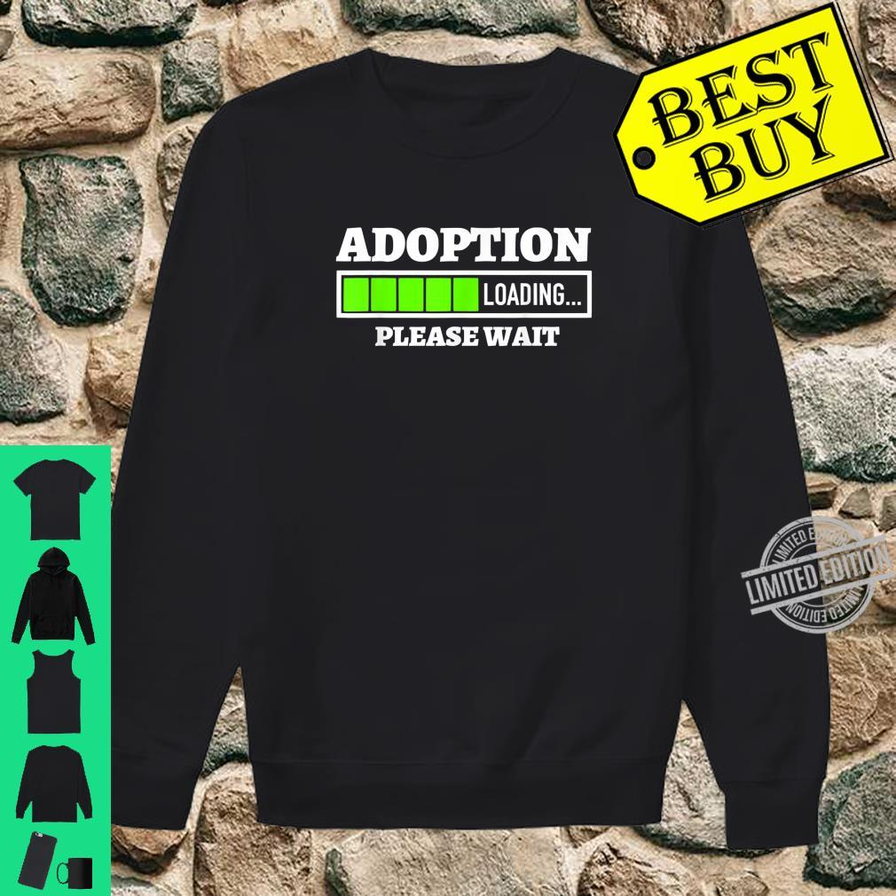 Adoption Loading Please Wait Progress Bar Fun Parenting Shirt sweater