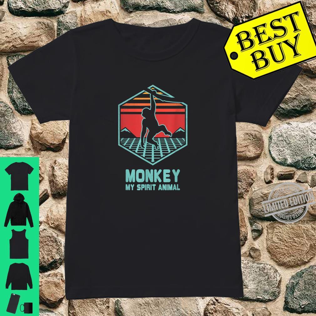 Affe Retro Vintage 80er Jahre Geschenk Shirt ladies tee