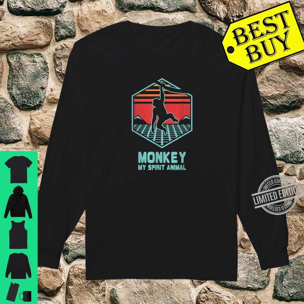 Affe Retro Vintage 80er Jahre Geschenk Shirt long sleeved
