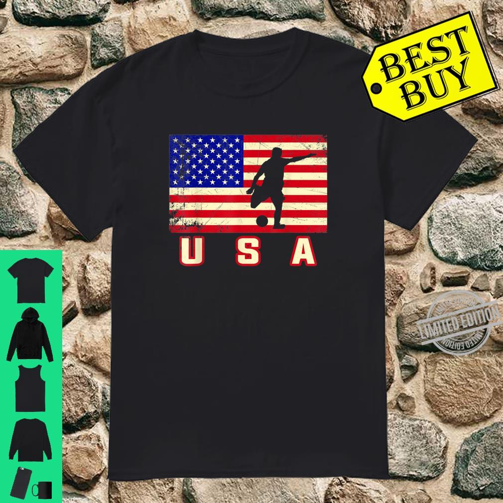 American Flag Patriotic USA Soccer Team Player 4th Of July Shirt