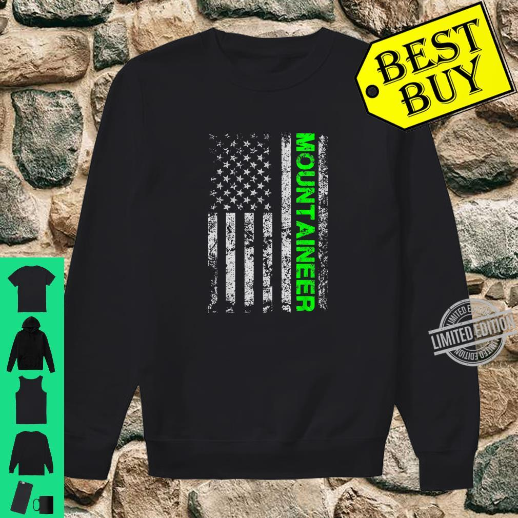 American Usa Flag Climber Mountaineer Alpinist Adventurer Shirt sweater