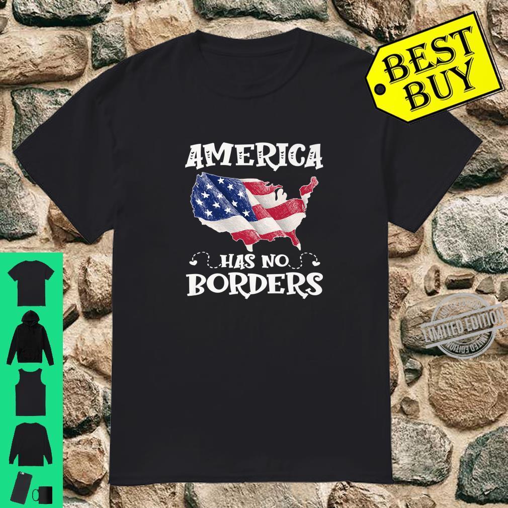 Anti Immigration Reform America Has No Border USA Flag Shirt