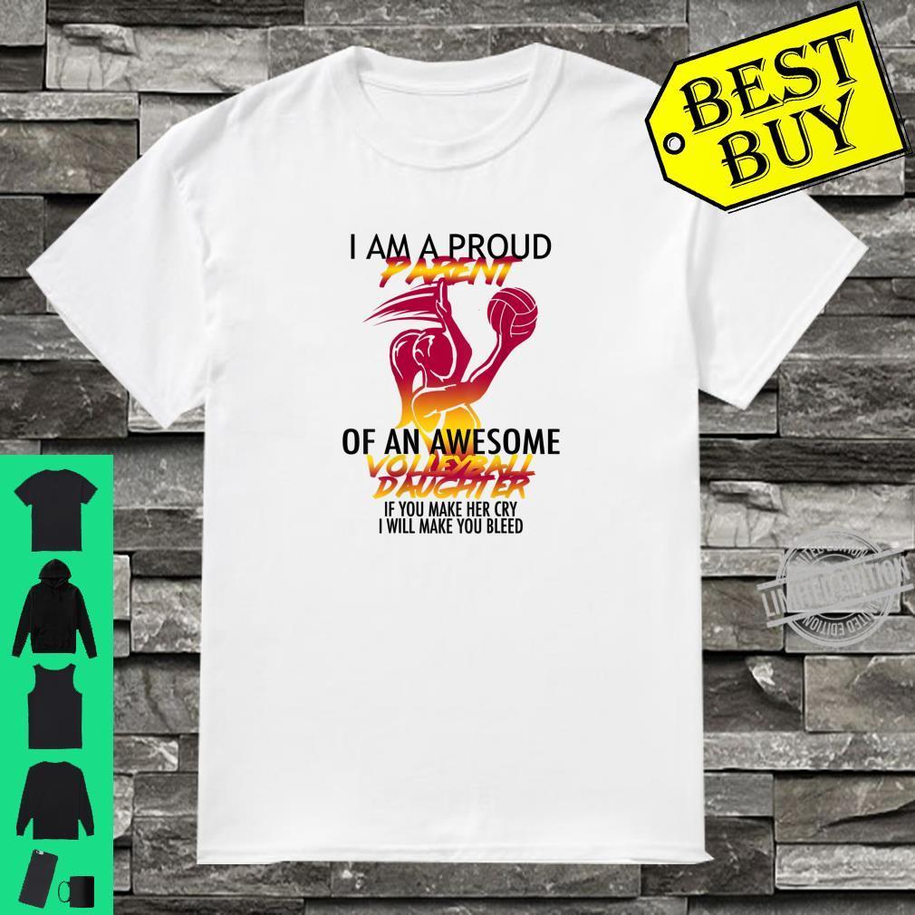 Atomic Waffle Proud Parent Volleyball Shirt