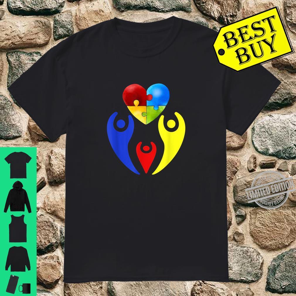 Autism Awareness Day Shirt Family Heart Puzzle Autism Shirt