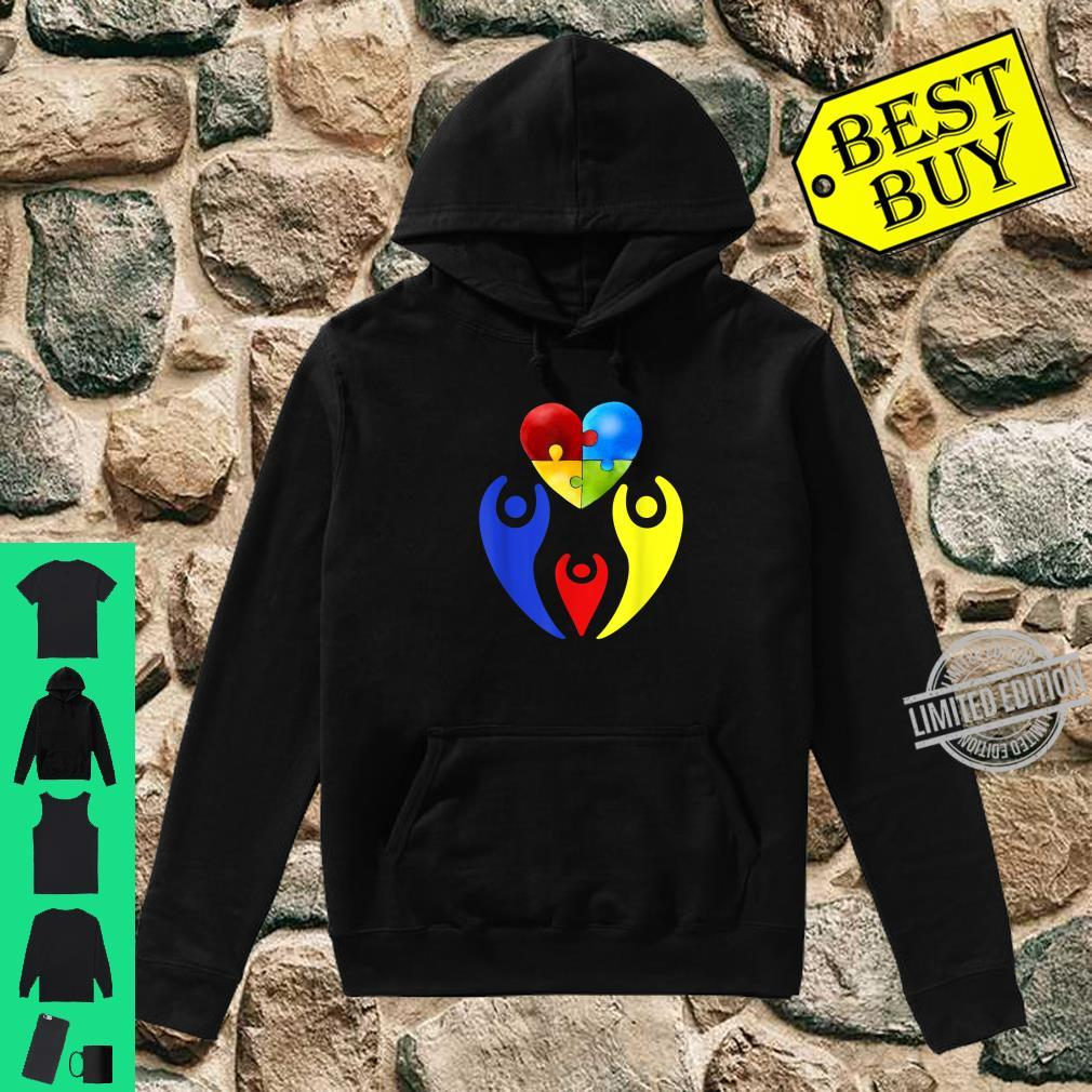 Autism Awareness Day Shirt Family Heart Puzzle Autism Shirt hoodie
