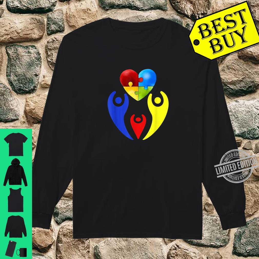 Autism Awareness Day Shirt Family Heart Puzzle Autism Shirt long sleeved