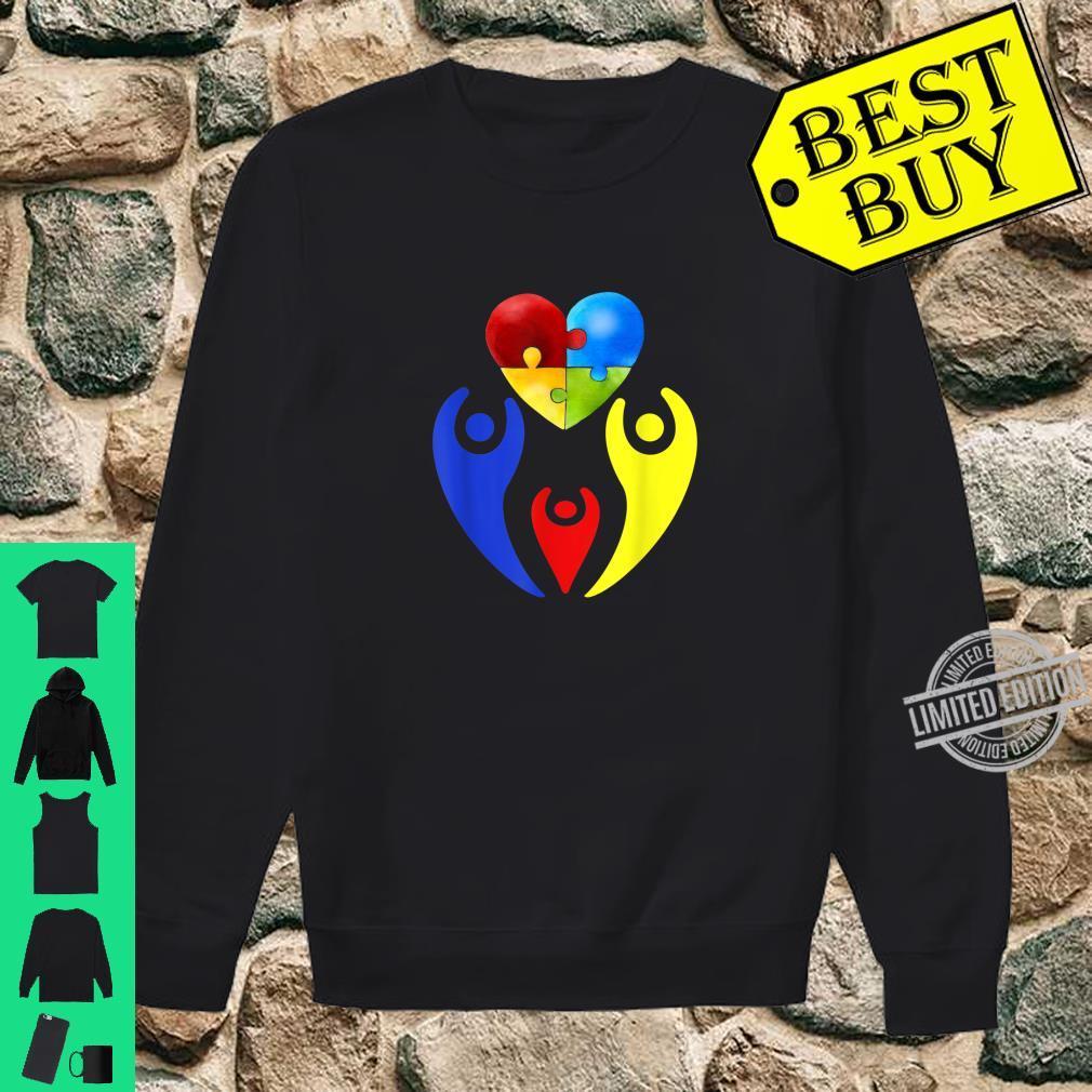 Autism Awareness Day Shirt Family Heart Puzzle Autism Shirt sweater