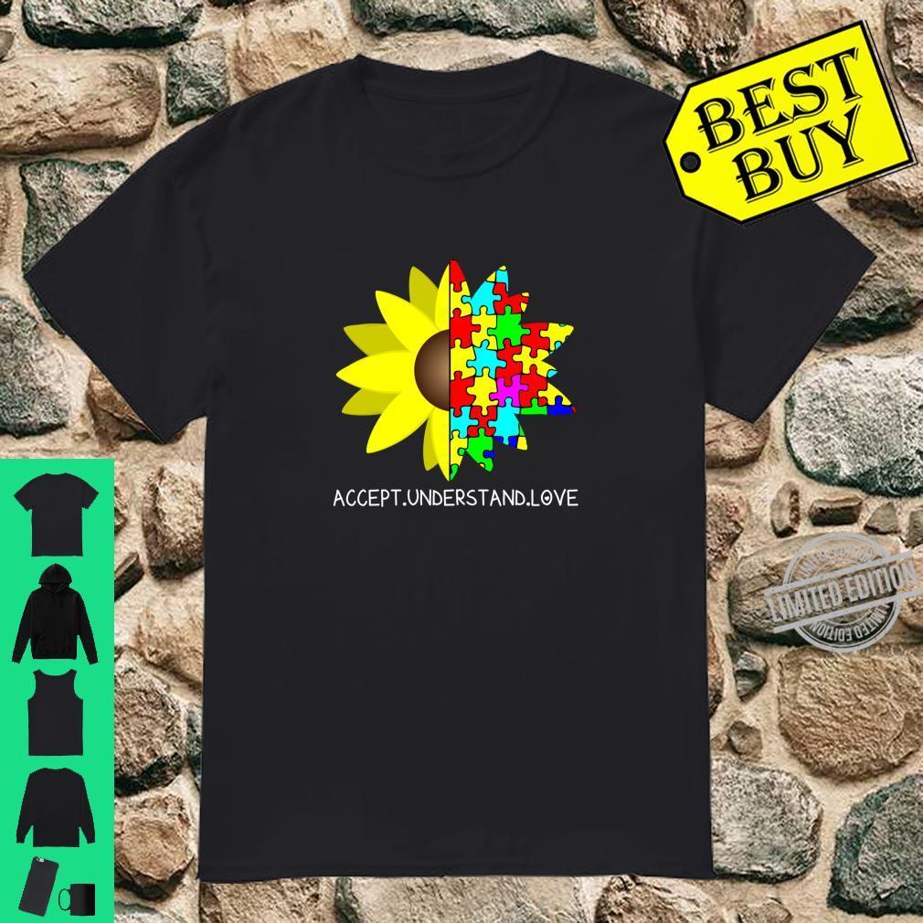 Autism Awareness Sunflower Accept Understand Love Shirt