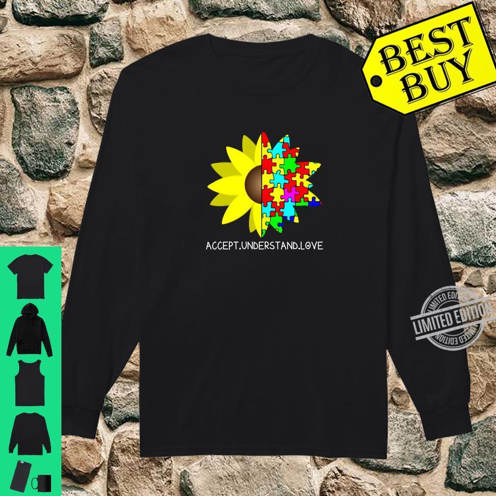 Autism Awareness Sunflower Accept Understand Love Shirt long sleeved
