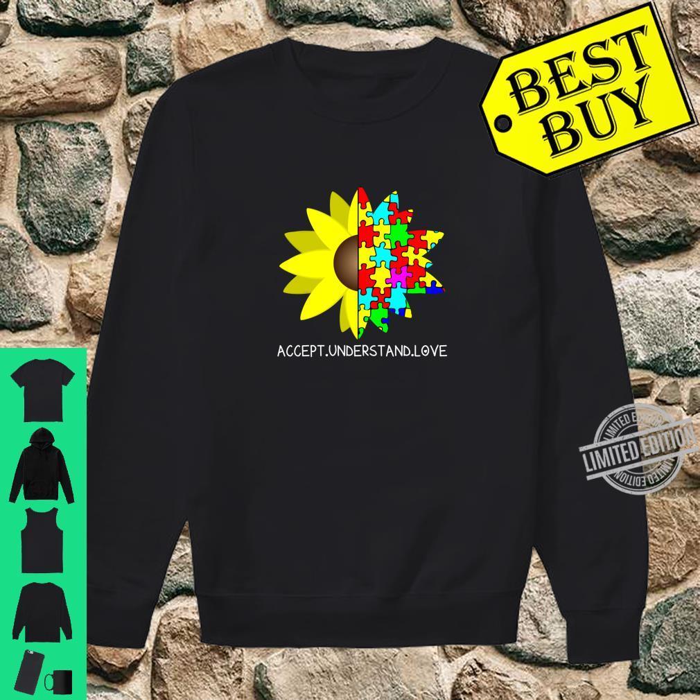 Autism Awareness Sunflower Accept Understand Love Shirt sweater