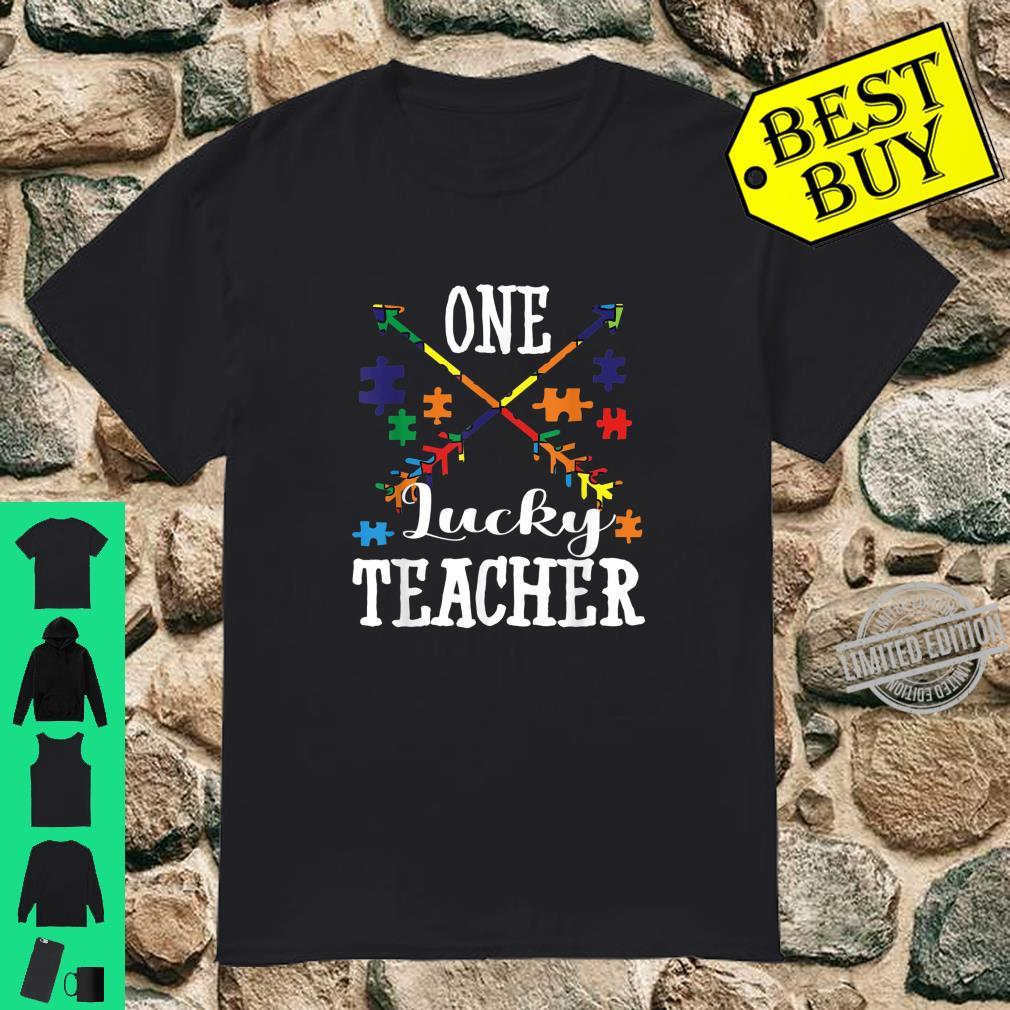 Autism Teacher One Lucky Teacher Autism Awareness Shirt