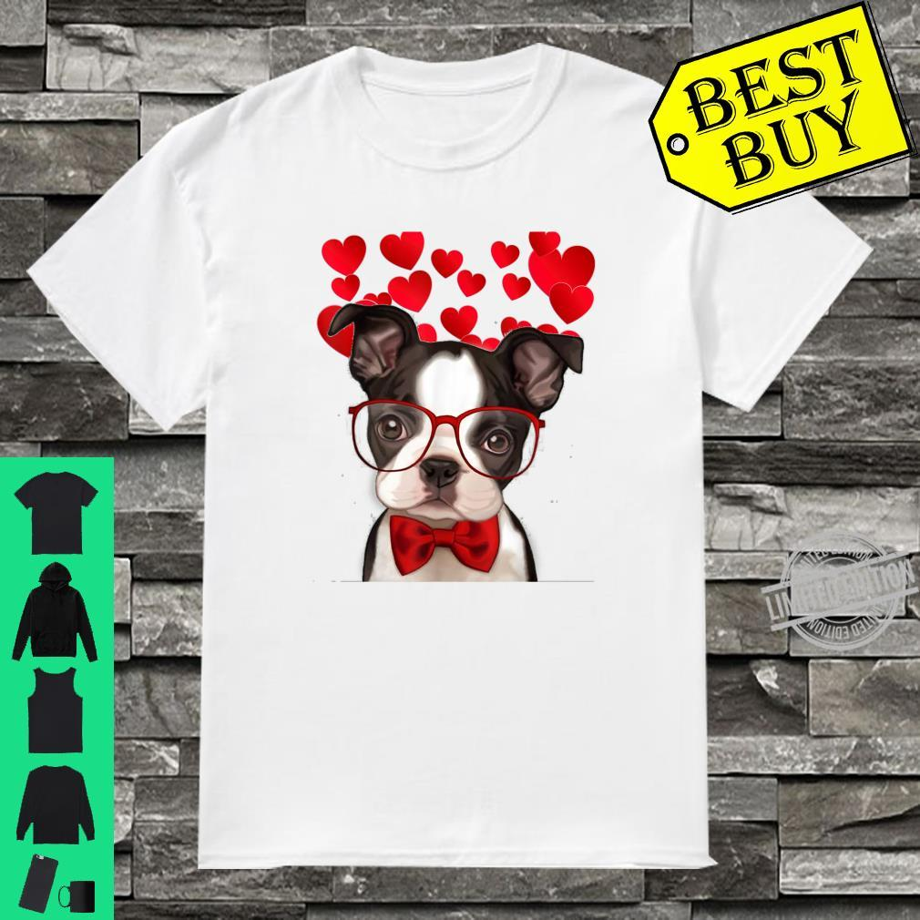 Awesome Boston Terrier Valentine Heart Cute Dog Shirt