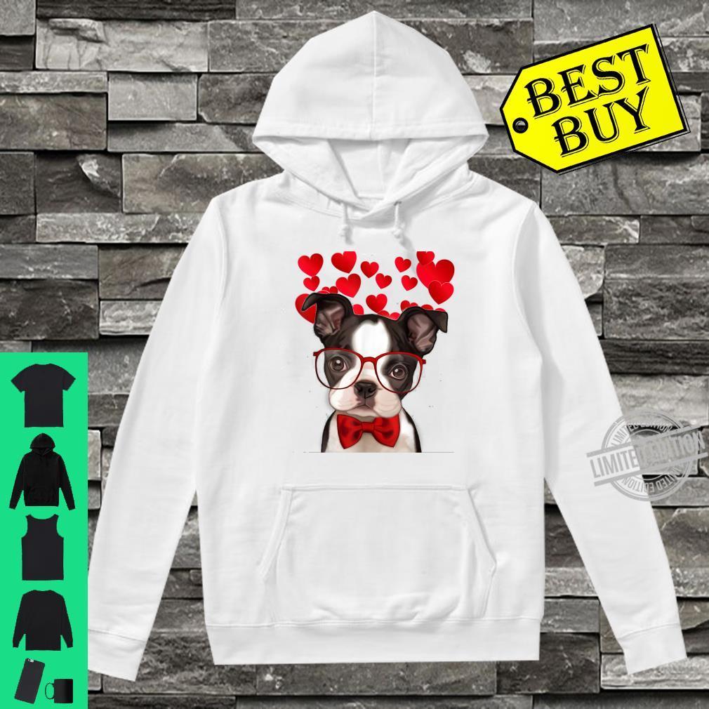 Awesome Boston Terrier Valentine Heart Cute Dog Shirt hoodie