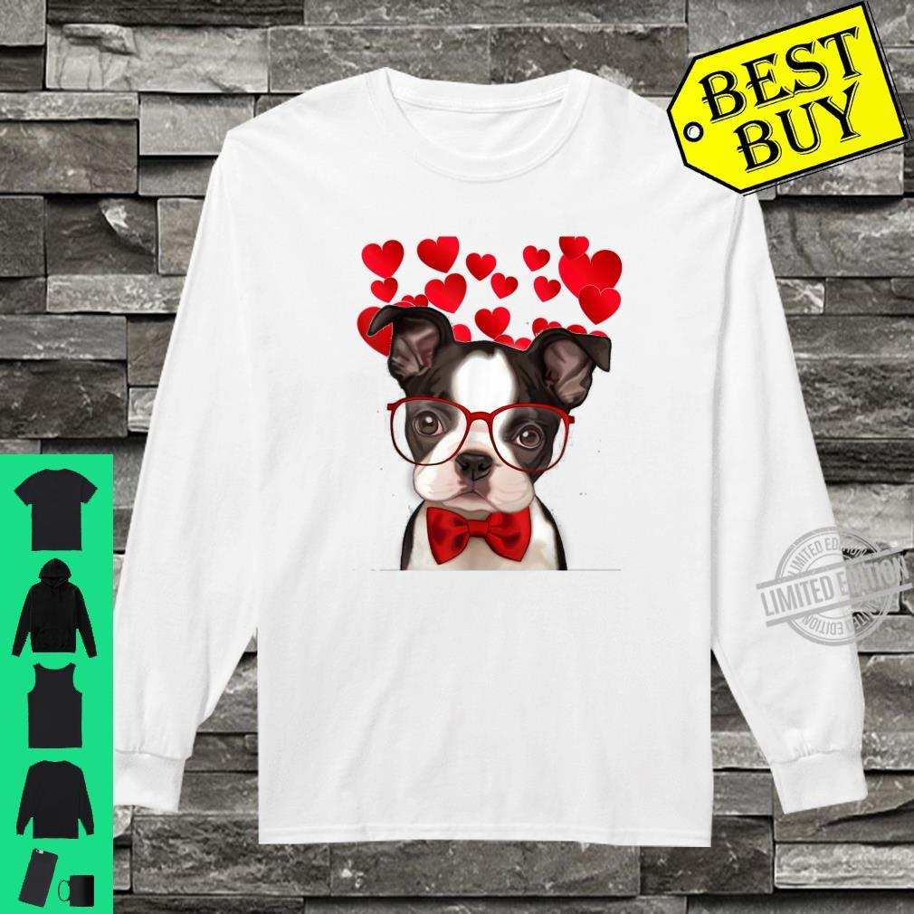 Awesome Boston Terrier Valentine Heart Cute Dog Shirt long sleeved
