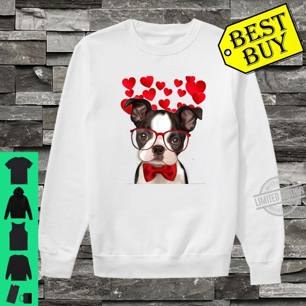 Awesome Boston Terrier Valentine Heart Cute Dog Shirt sweater