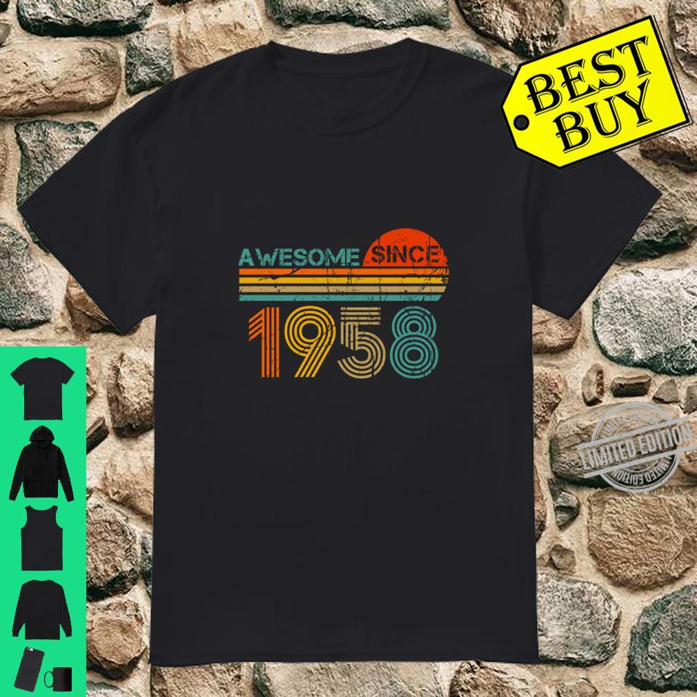 Awesome Since 1958 62th Birthday 62 Years Old Party Shirt