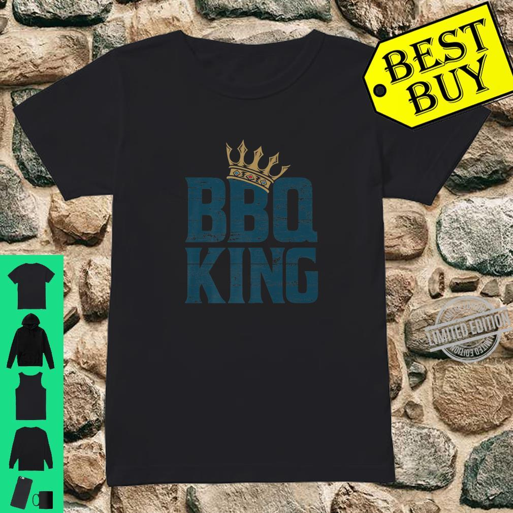 BBQ king meat eater barbecue grilling for dads Shirt ladies tee