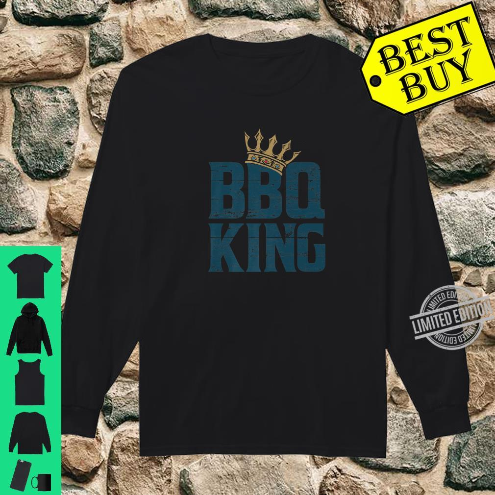 BBQ king meat eater barbecue grilling for dads Shirt long sleeved