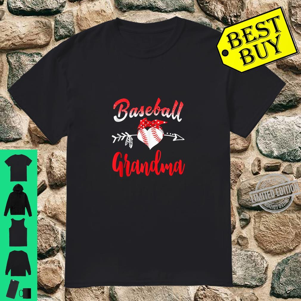 Baseball Grandma With Heart Shirt