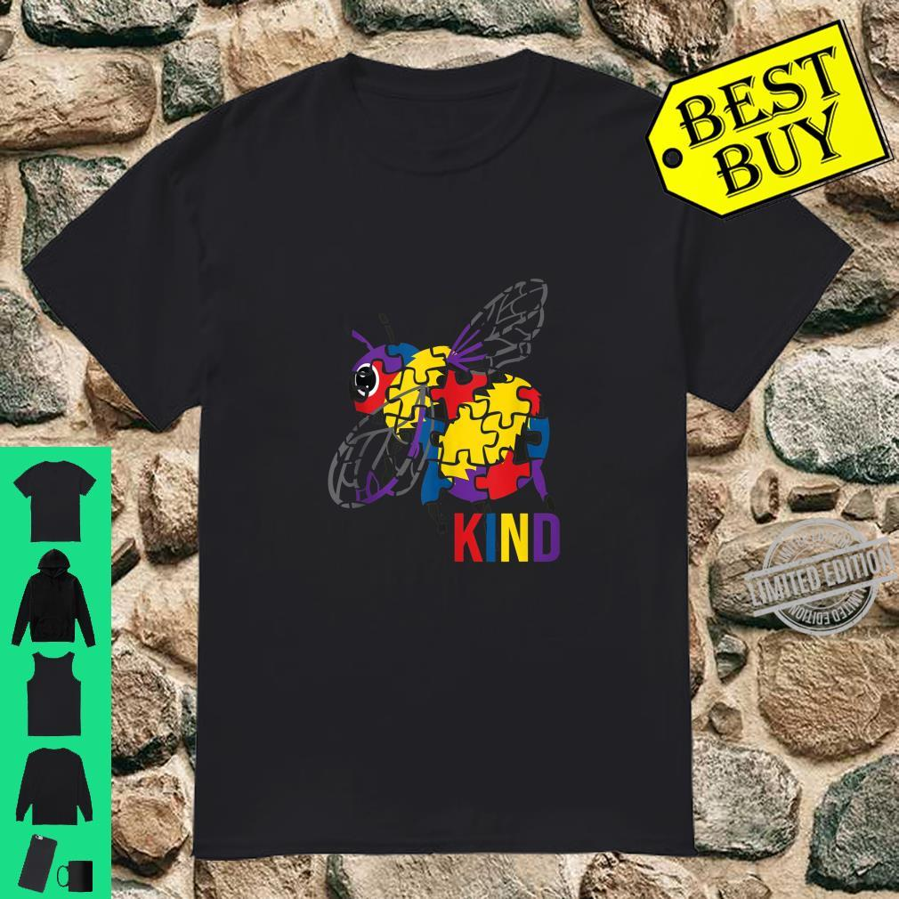 Bee Kind Puzzle Pieces Autism Be Kind Bumble Bees Shirt