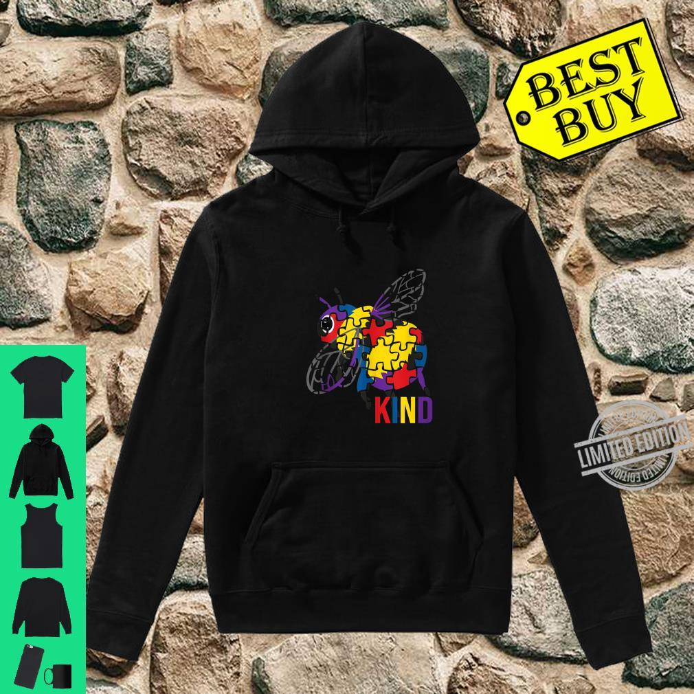 Bee Kind Puzzle Pieces Autism Be Kind Bumble Bees Shirt hoodie