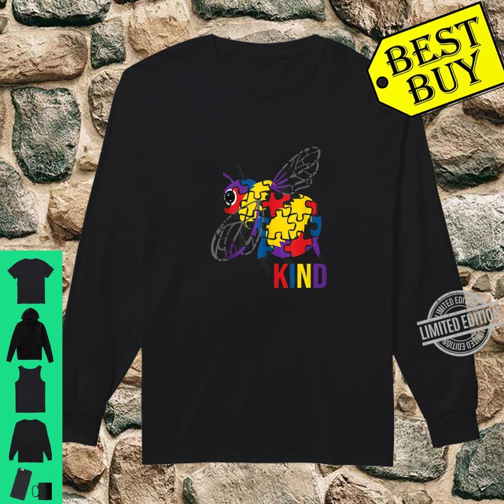 Bee Kind Puzzle Pieces Autism Be Kind Bumble Bees Shirt long sleeved