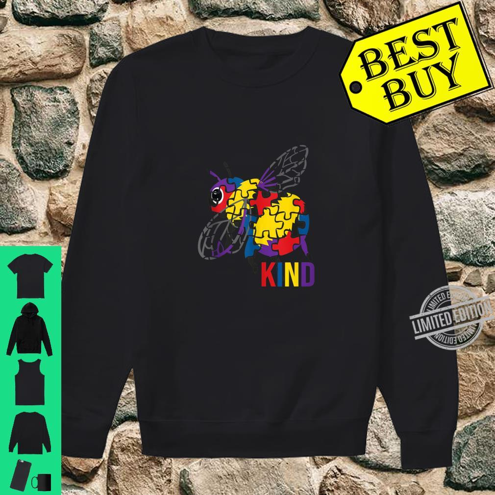 Bee Kind Puzzle Pieces Autism Be Kind Bumble Bees Shirt sweater