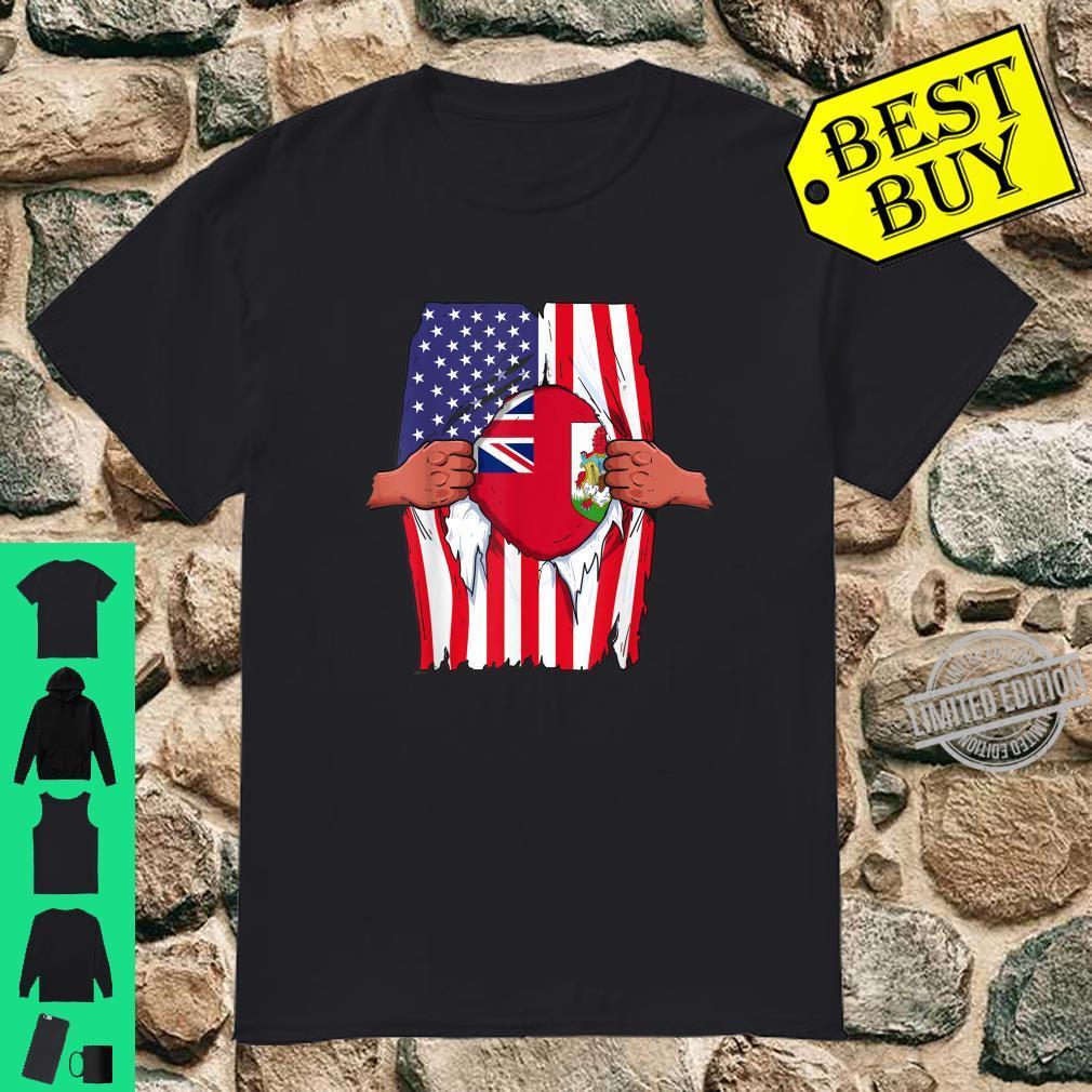 Bermuda Flag Inside Me Home Pride Bermudian American Shirt