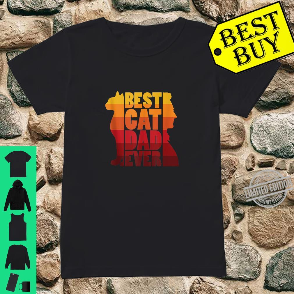 Best Cat Dad Ever Paw Fist Bump Kitten Pet Father Day Shirt ladies tee