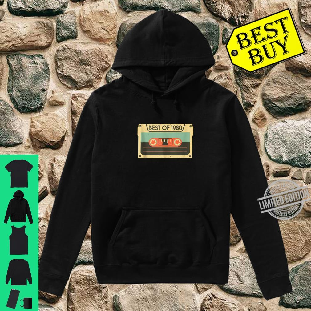 Best Of 1980 40th Birthday Cassette Tape Vintage Shirt hoodie