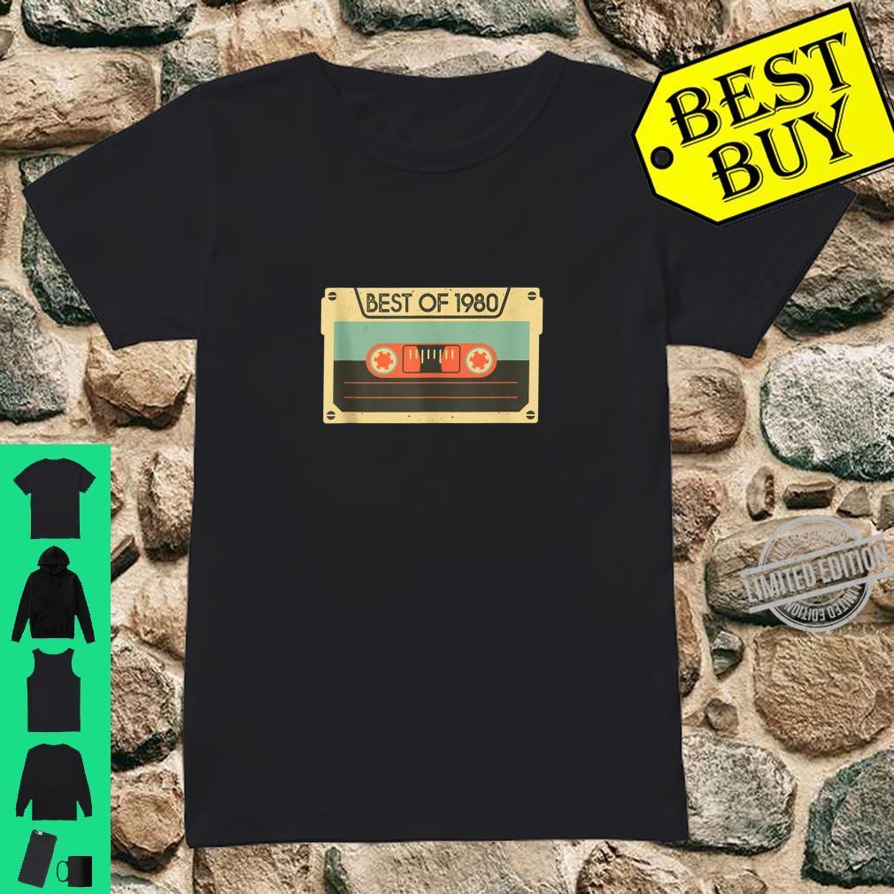 Best Of 1980 40th Birthday Cassette Tape Vintage Shirt ladies tee