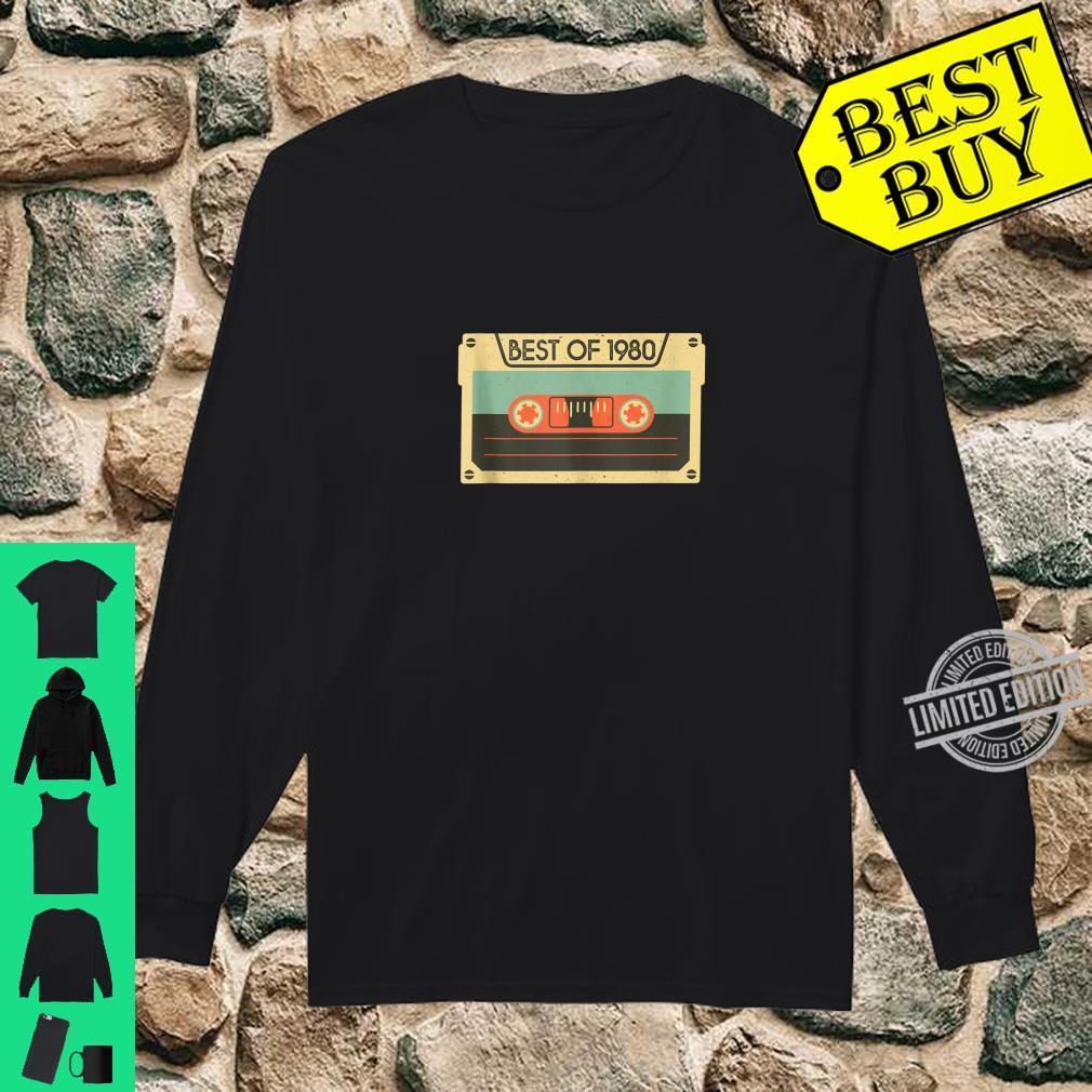 Best Of 1980 40th Birthday Cassette Tape Vintage Shirt long sleeved