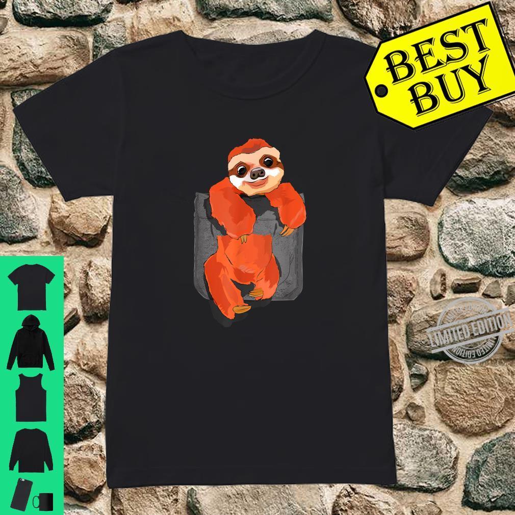 Big Sloth In A Big Pocket Shirt ladies tee