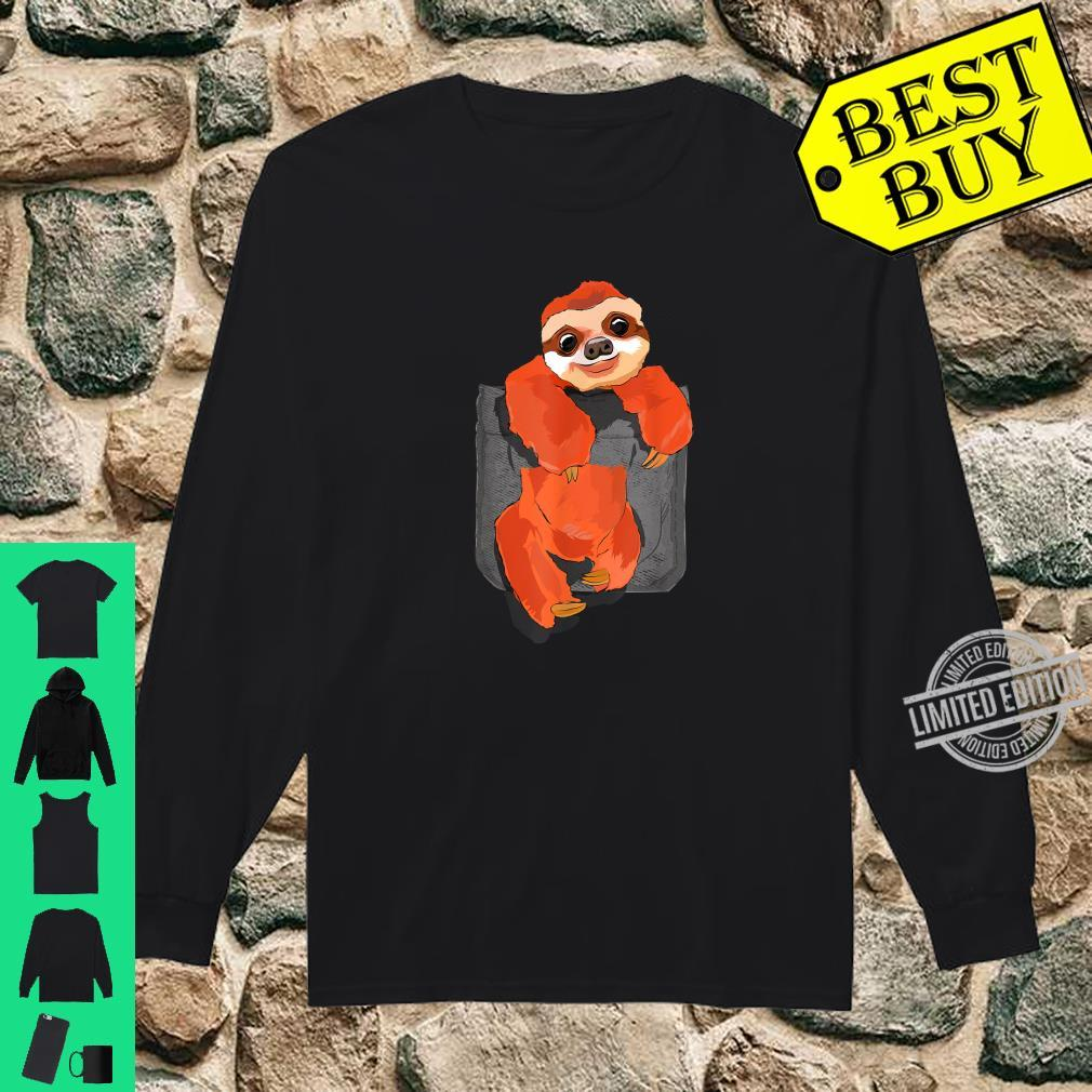 Big Sloth In A Big Pocket Shirt long sleeved
