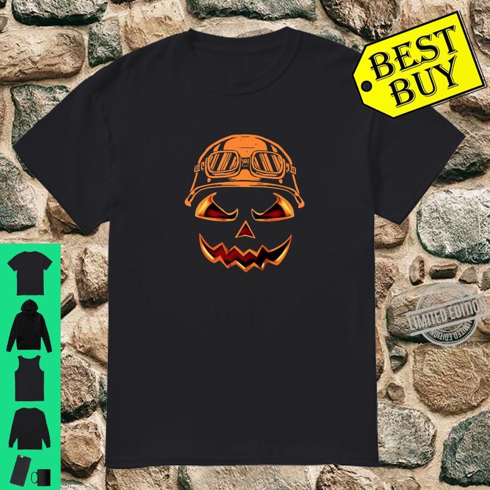 Biker Pumpkin Halloween Costume For Biker Shirt