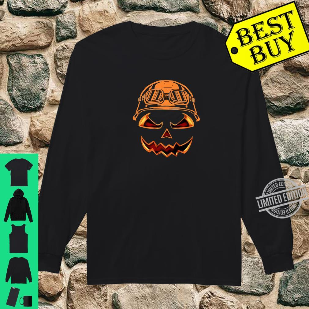 Biker Pumpkin Halloween Costume For Biker Shirt long sleeved