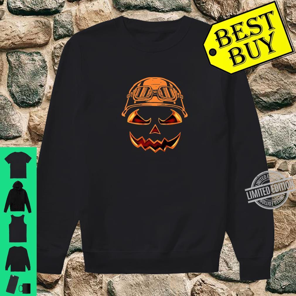 Biker Pumpkin Halloween Costume For Biker Shirt sweater