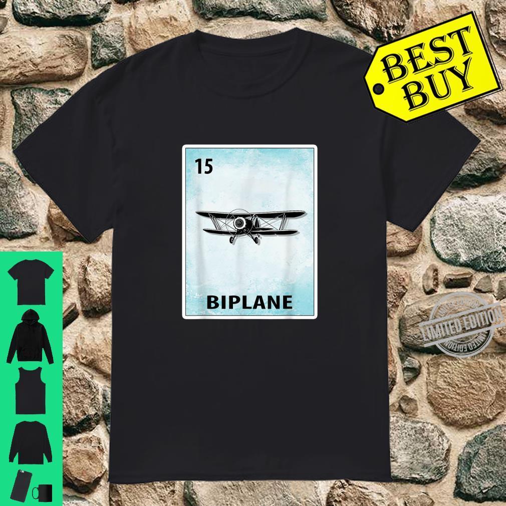 Biplane Mexican Pilot Cards Shirt