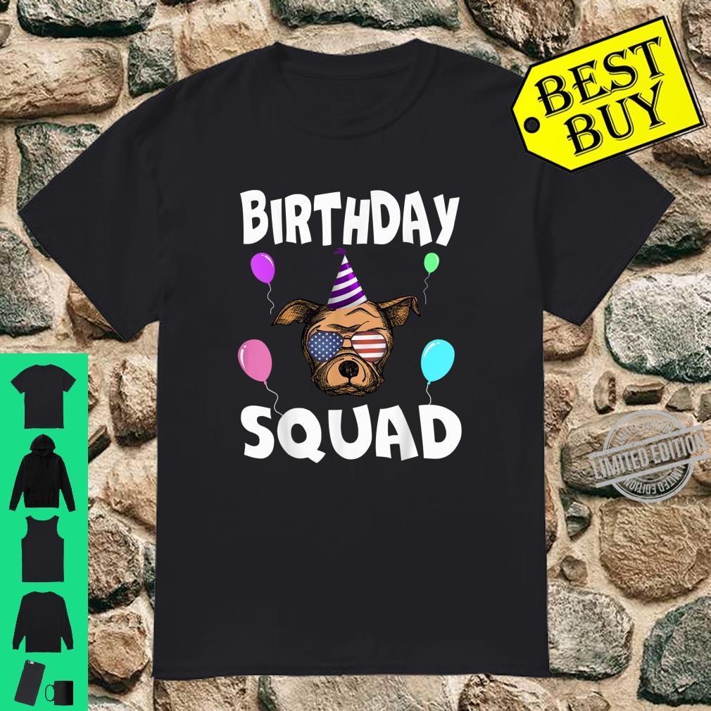 Birthday Squad Cute Dog Rex Bday Team Shirt