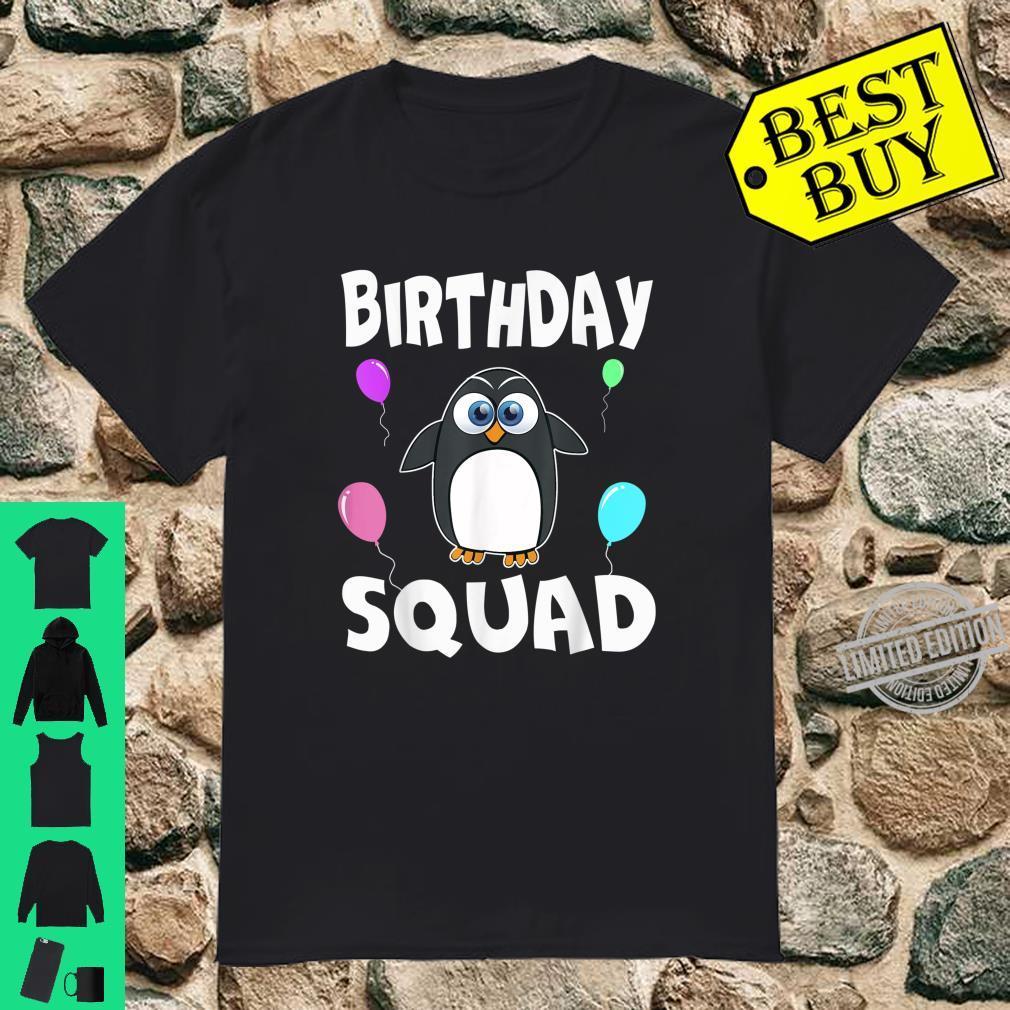 Birthday Squad Cute Penguin Bday Team Shirt