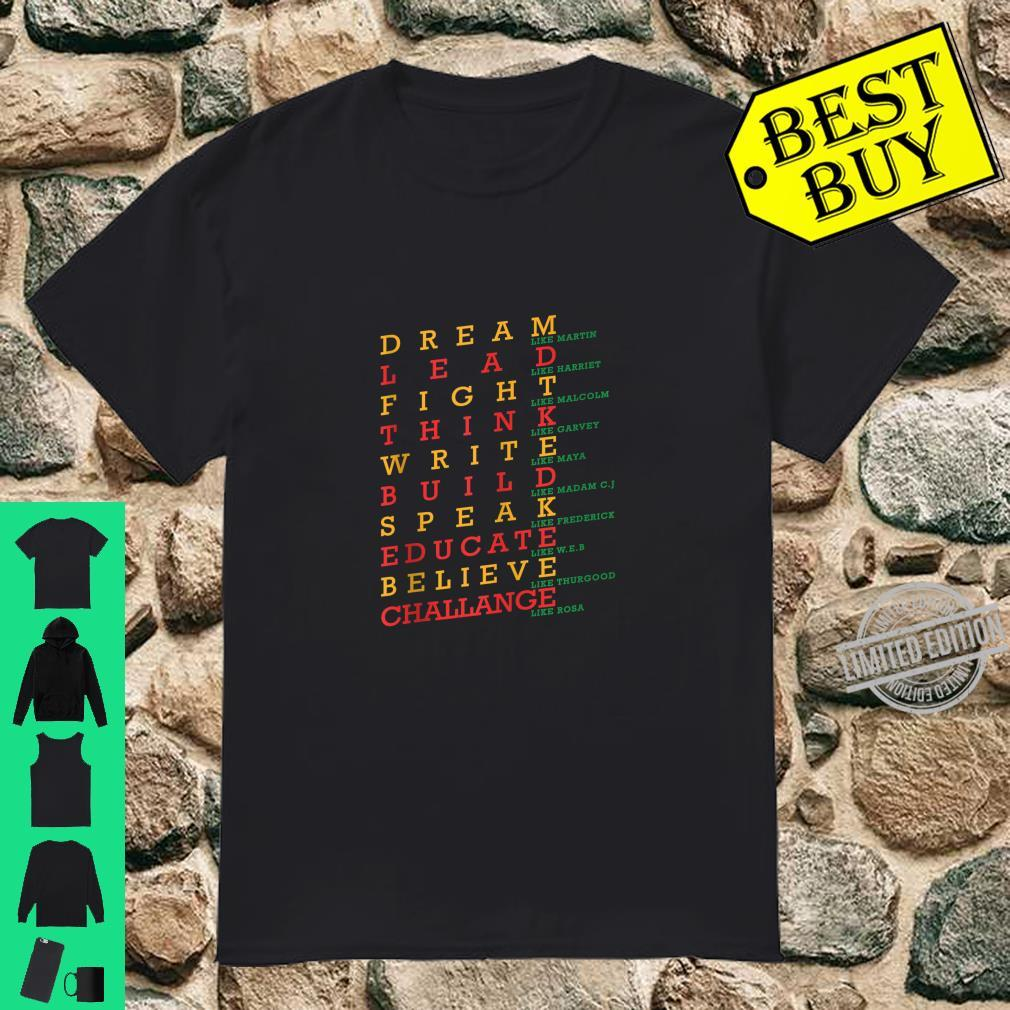 Black History Month Dashiki African Pride Heritage Peace Shirt