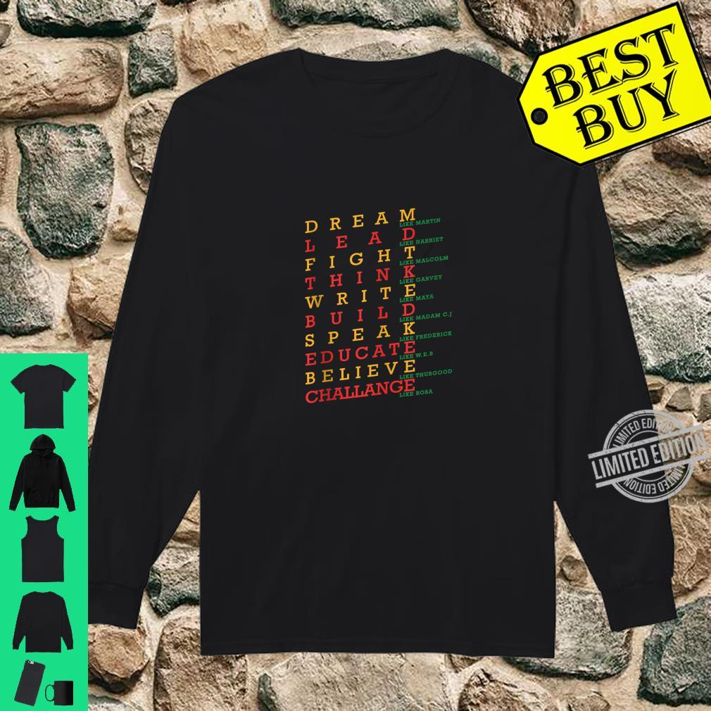 Black History Month Dashiki African Pride Heritage Peace Shirt long sleeved